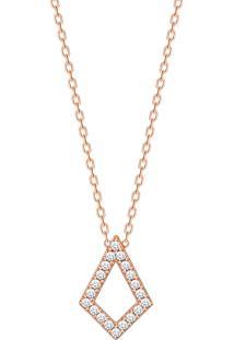 Colar Em Ouro Rosé 18K Com Diamante