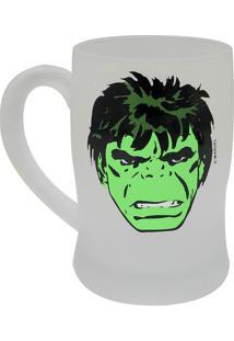 Caneca Fosca Hulkâ®- Verde & Verde Escuro- 400Ml-Zona Criativa