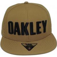 edd655049a42b Boné Oakley Octane - Masculino-Dourado