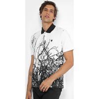 Camisa Polo Cavalera Piquet Estampada Galhos - Masculino 2f69705972ae2