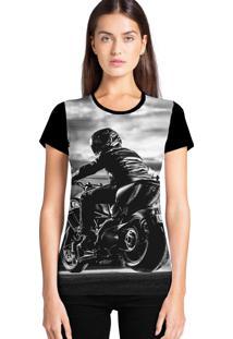Camiseta Feminina Ramavi Moto Manga Curta - Kanui