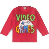 Boutique Infantil. Camiseta Infantil Vídeo Game Vermelho - Pollo Sul fd5bec1eaa0c2