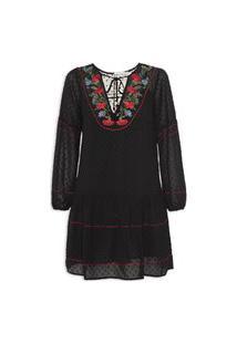 Vestido Silk Elysee Noir - Preto