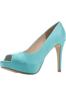 708fe6a0d3 Peep Toe Santa Scarpa Ss10 Tiffany Verde