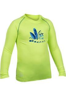 Camisa Manga Longa Poker Proteção Uv50+ Ii Infant - Masculino-Verde+Azul