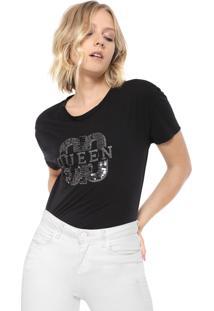 Camiseta Carmim Queen Preta