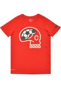 Camiseta Nike Menina Estampado Vermelha
