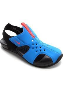 Sandália Infantil Nike Sunray Protect 2 - Masculino-Azul+Preto
