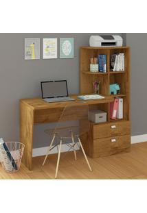 Mesa Para Computador Com 2 Gavetas E 5 Prateleiras Elisa – Permóbilili - Mel
