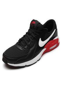 Tênis Couro Nike Sportswear Air Max Excee Preto/Vermelho