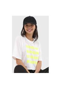 Camiseta Colcci Lettering Neon Off-White