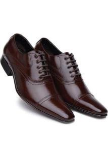 Sapato Bigioni Estilo Italiano Cadarço Masculino - Masculino-Marrom