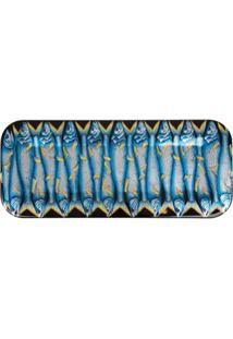Fornasetti Bandeja Sardine - Azul