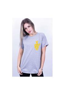 Camiseta Bilhan Corte A Fio Figa Pq Cinza