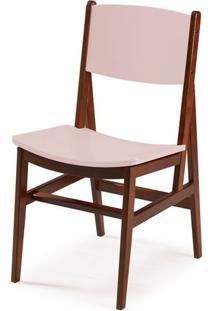Cadeira Dumon Cor Cacau Com Bege Claro - 30794 Sun House
