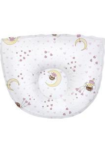 Travesseiro Anatã´Mico Menina- Branco & Rosa Claro- 2Papi