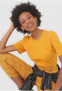 Camiseta Colcci Recortes Amarela - Amarelo - Feminino - Algodã£O - Dafiti