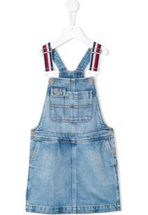 Tommy Hilfiger Junior Vestido Jardineira Jeans - Azul