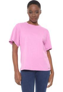 Camiseta Colcci Básica Rosa