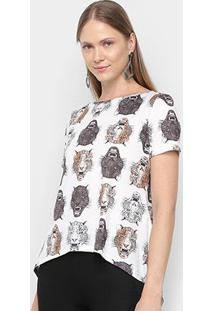 Camiseta My Favorite Thing Mullet Tigre Feminina - Feminino-Onça