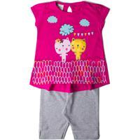 Compre Conjunto Pijama Bebê Ano Zero Cotton e Malha Listrada Capri Papai Eu  Mamãe Mescla G por R  44.90. Conjunto Baby Pink Noxkids 9f9f38d1c5d