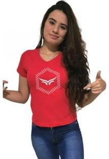 Camiseta Gola V Cellos Hexagonal Premium Feminina - Feminino