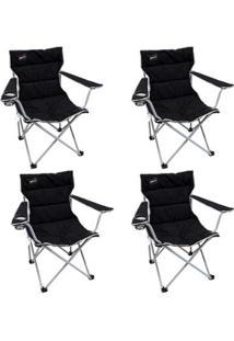 Kit 4 Cadeiras Dobráveis Nautika Boni Com Porta Copo - Unissex