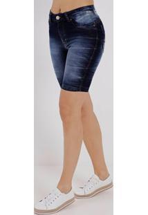 Bermuda Jeans Feminina Bivik Azul