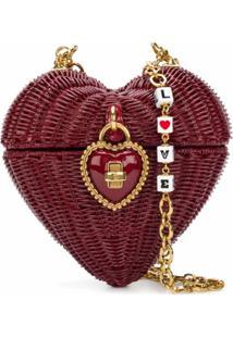 Dolce & Gabbana Bolsa Tiracolo Heart Box - Vermelho