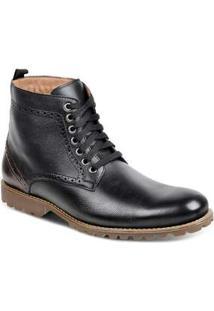 Bota Dress Boot Masculina Sandro Moscoloni Vittorio Preto Black