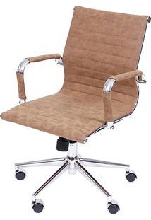 Cadeira Office Eames Esteirinha- Castanho & Prateadaor Design