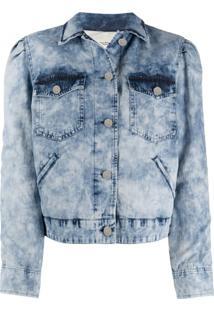 Isabel Marant Étoile Jaqueta Jeans Com Lavagem - Azul