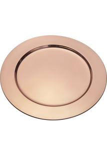 Sousplat Metalizado- Inox & Rosê Gold- Ø20Cmwolff