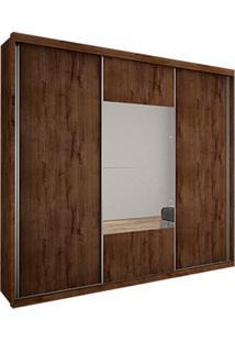 Guarda-Roupa Casal Com Espelho Trento Ii 3 Pt 3 Gv Canela