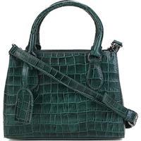 dc57a8176 Bolsa Couro Shoestock Transversal Croco Feminina - Feminino-Verde