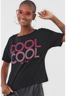 Camiseta Enfim Cool Preta
