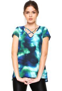 Camiseta Memo Strappys Verde/Azul