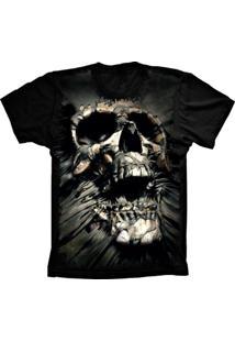 Camiseta Baby Look Lu Geek Skull Dead Preto - Tricae