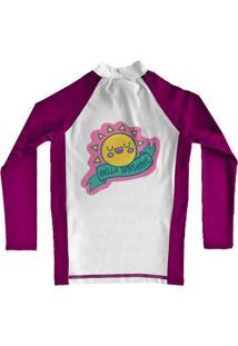 Camiseta De Lycra Comfy Sunshine Rosa