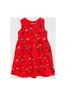 Vestido Gap Infantil Minnie Vermelho
