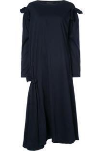 Yohji Yamamoto Vestido Oversized - Azul