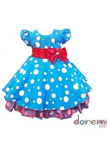 Vestido Galinha Pintadinha - Tam 1 Ao 3