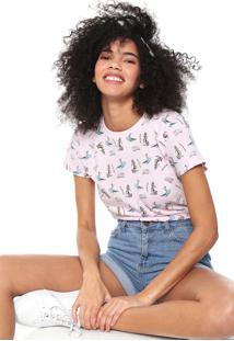 Camiseta Fiveblu Hawaii Rosa