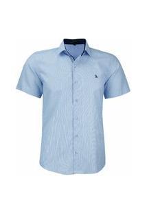 Camisa Social Amil Modelagem Slim Tecido Misto 1698 Azul Bebê