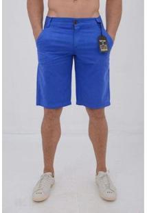 Bermuda Sarja Delmont Store Casual Masculina - Masculino-Azul
