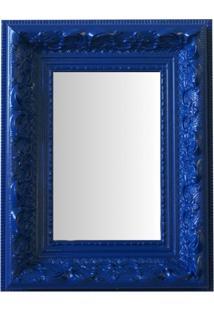 Espelho Moldura Rococó Raso 16235 Azul Art Shop