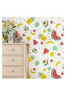 Papel Parede Infantil Frutas Coloridas Gráo De Gente Multicolorido