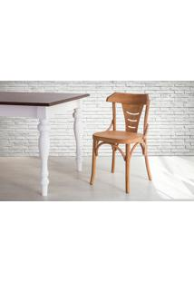 Cadeira De Madeira Torneada Com Encosto E Assento Anatômico Jatobá Augustine - 45X50,5X83 Cm