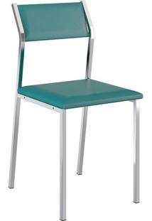 Cadeira 1709 Cromada 04 Unidades Turquesa Carraro