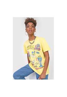 Camiseta Colcci Heart To Break Amarela